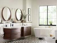 Мебель для ванной: 140 фото вариантов встроенных и отдельно стоящих элементов