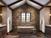 Столешница в ванную – возможные материалы и сочетания с интерьером стен (110 фото)