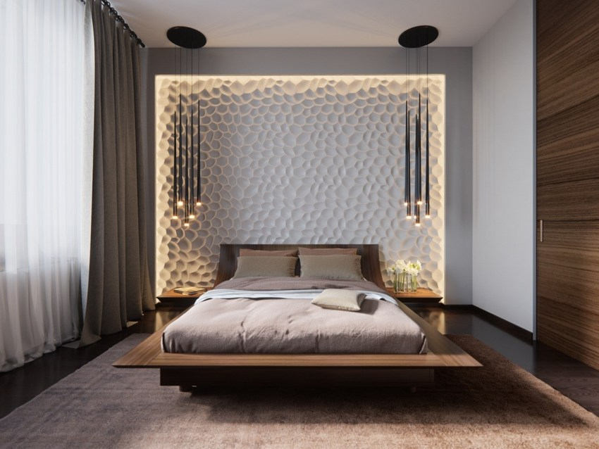 Дизайн интерьера спальни 2020 года — 120 фото новинок оформления