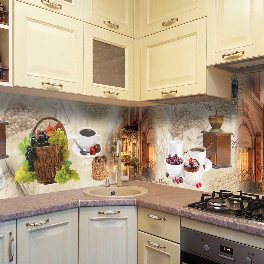 кухонный настенный фартук в виде узора фото один самых опасных