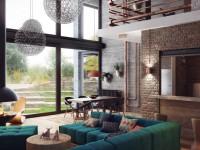 Гостиная в стиле лофт: секреты дизайнеров как сохранить гармонию и баланс в стиле (140 фото)