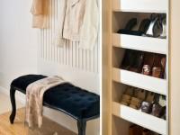 Узкая прихожая — рекомендации по зонированию и подбору функциональной мебели (80 фото)