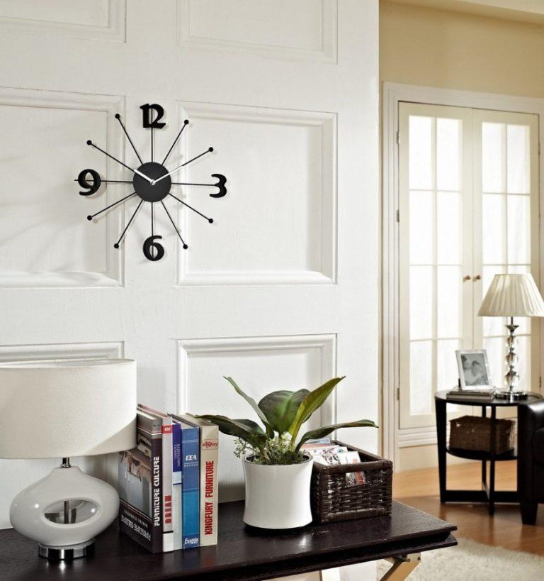 Стильные настенные часы в гостинную