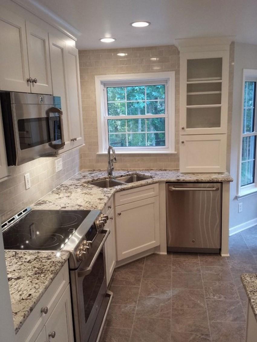 Фото кухни угловой с угловой мойкой дизайн