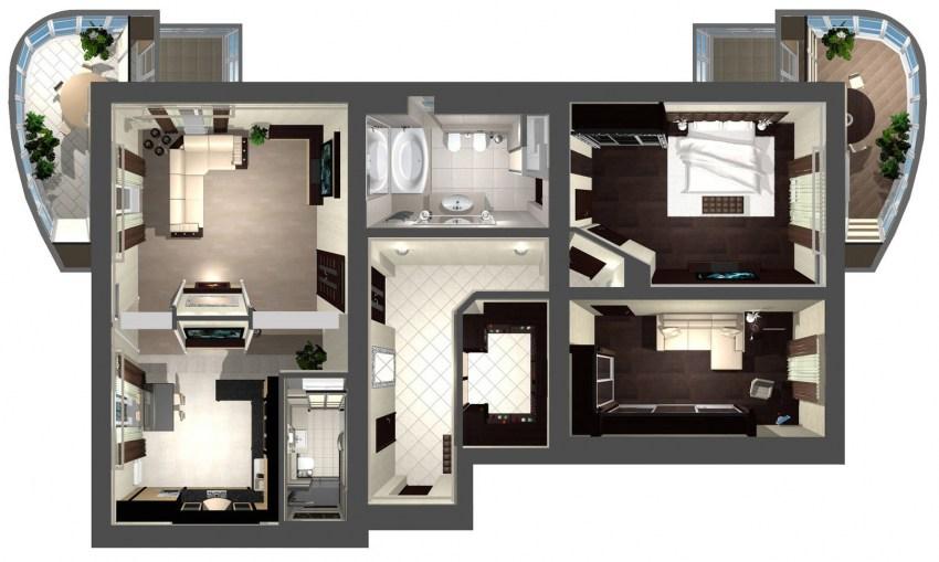 Варианты перепланировки квартиры в доме серии П-44Т